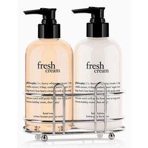 Philosophy Fresh Cream Hand Soap & Lotion w/Caddy